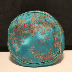Vtg 60's 70's Asian Cosmetic Bag Pouch Purse
